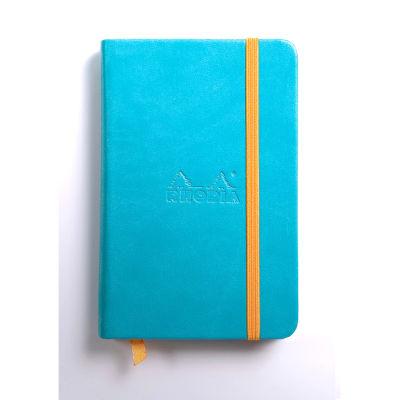 Rhodia Boutique Rodiarama Renkler Italyan Deri Çizgili Defter Turquoise A6 96 Yaprak