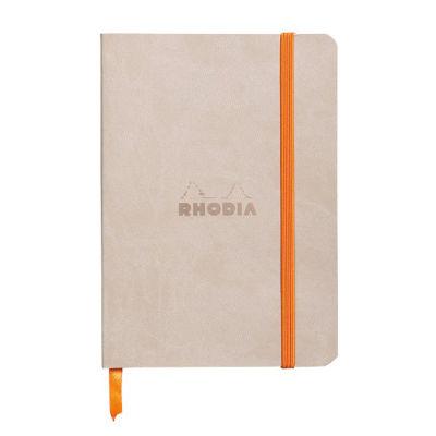Rhodia Boutique Rodiarama Renkler Italyan Deri Yumuşak Kapak Çizgili Beige A6