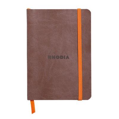 Rhodia Boutique Rodiarama Renkler Italyan Deri Yumuşak Kapak Çizgili Chocolate A6 72 Yaprak