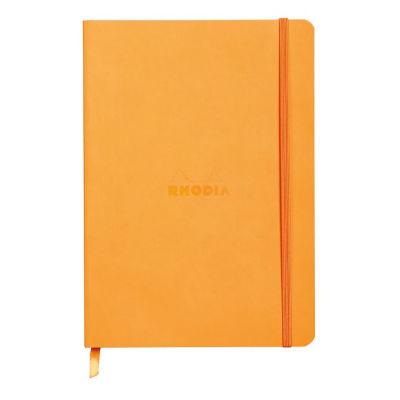 Rhodia Boutique Rodiarama Renkler Italyan Deri Yumuşak Kapak Çizgili Orange A5