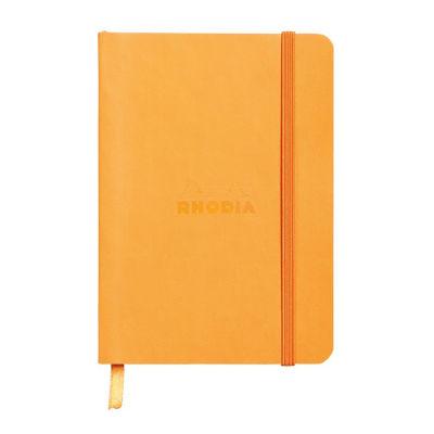 Rhodia Boutique Rodiarama Renkler Italyan Deri Yumuşak Kapak Çizgili Orange A6