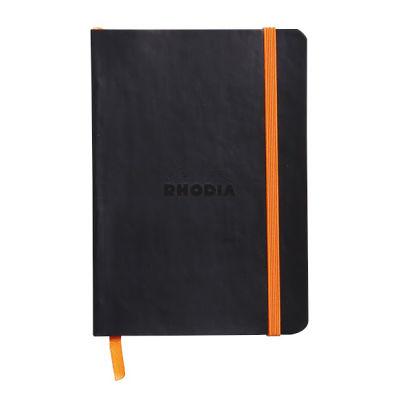 Rhodia Boutique Rodiarama Renkler Italyan Deri Yumuşak Kapak Çizgili Siyah A6