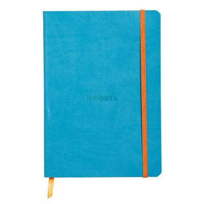 Rhodia Boutique Rodiarama Renkler Italyan Deri Yumuşak Kapak Çizgili Turquoise A6