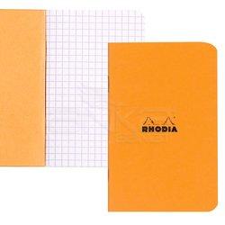 Rhodia - Rhodia Basic Turuncu Kapak Kareli Defter 80g 24 Yaprak 7,5x12cm