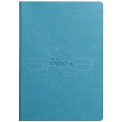 Rhodia - Rhodia İtalyan Deri Yumuşak Kapak Dot Defter A5 64 Sayfa 90g Turkuaz (1)