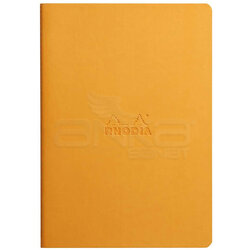 Rhodia - Rhodia İtalyan Deri Yumuşak Kapak Dot Defter A5 64 Sayfa 90g Turuncu (1)