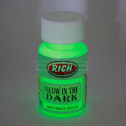 Rich Karanlıkta Parlayan Boya Glow In The Dark 50ml 3004 Yeşil