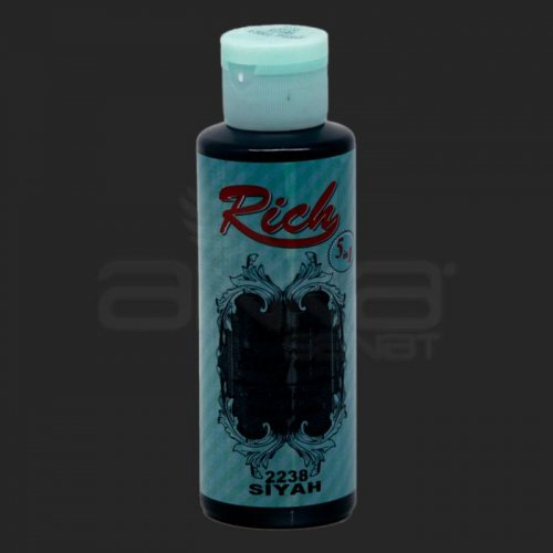 Rich Multi Surface Akrilik Boya 120ml 2238 Siyah