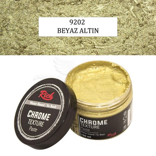 Rich Su Bazlı Chrome Texture Paste 150ml 9202 Beyaz Altın