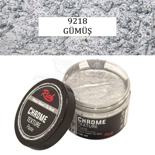Rich Su Bazlı Chrome Texture Paste 150ml 9218 Gümüş