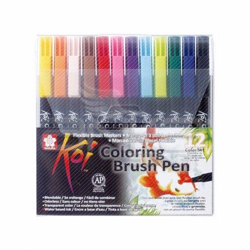 Sakura Koi Coloring Brush Pen Fırça Uçlu Kalem 12li Set