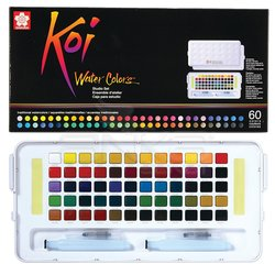 Sakura Koi Watercolours Sulu Boya Seti 60lı XNCW-60N - Thumbnail