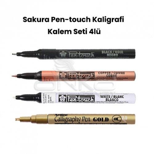 Sakura Pen-touch Kaligrafi Kalem Seti 4lü