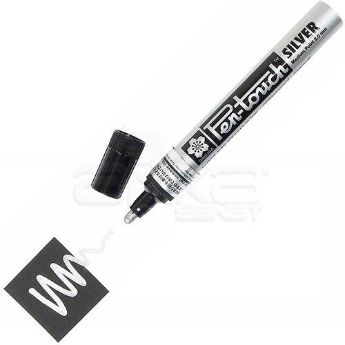 Sakura Pen-touch Marker Kalem 2mm (Medium) Gümüş