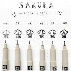 Sakura - Sakura Pigma Micron Teknik Çizim Kalemi 6lı Set (1)