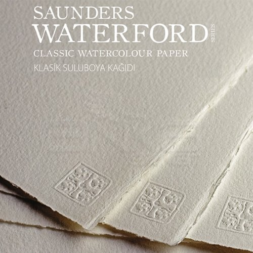 Saunders Waterford Cold Pressed High White Blok 20 Yaprak 300g 23x31cm