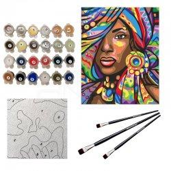 Anka Art - Sayılarla Boyama Seti 40x50cm African