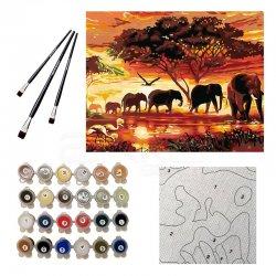 Anka Art - Sayılarla Boyama Seti 40x50cm Filler