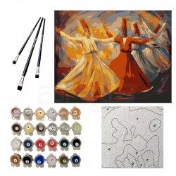Anka Art - Sayılarla Boyama Seti 40x50cm Rumi Mevlevi