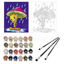 Anka Art - Sayılarla Boyama Seti 40x50cm Tweety Mantar Şemsiyeli