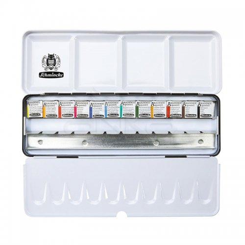 Schmincke Akademie Sulu Boya 12 Renk 1/2 Tablet +12 Tablet Yeri 75 412