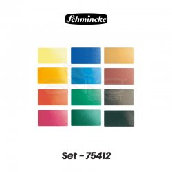 Schmincke Akademie Sulu Boya 12 Renk 1/2 Tablet +12 Tablet Yeri 75 412 - Thumbnail