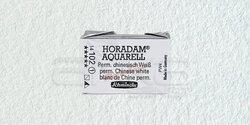 Schmincke - Schmincke Horadam Aquarell 1/1 Tablet 102 Permanent Chin, White seri 1