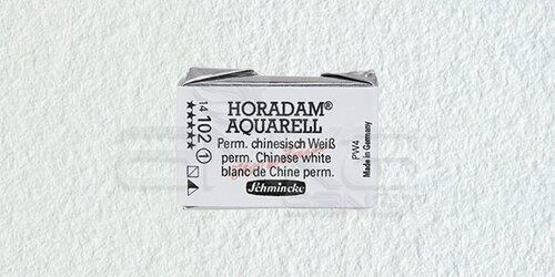 Schmincke Horadam Aquarell 1/1 Tablet 102 Permanent Chin, White seri 1 - 102 Permanent Chin, White