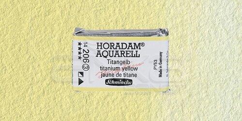 Schmincke Horadam Aquarell 1/1 Tablet 206 Titanium Yellow seri 3 - 206 Titanium Yellow