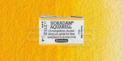 Schmincke Horadam Aquarell 1/1 Tablet 213 Chrome Yellow Deep seri 2 - 213 Chrome Yellow Deep