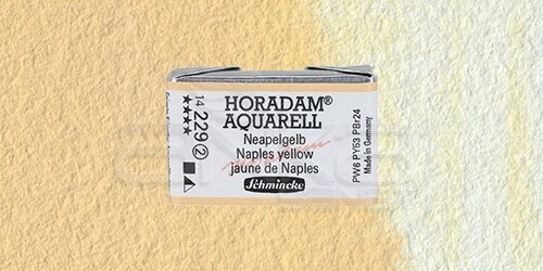 Schmincke Horadam Aquarell 1/1 Tablet 229 Naples Yellow seri 2 - 229 Naples Yellow