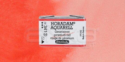 Schmincke Horadam Aquarell 1/1 Tablet 341 Geranium Red seri 3 - 341 Geranium Red
