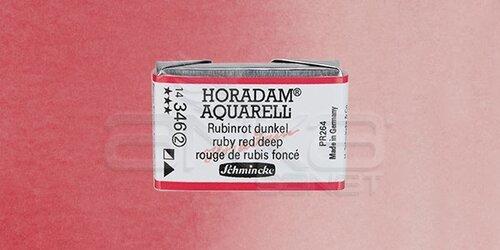 Schmincke Horadam Aquarell 1/1 Tablet 346 Ruby Red Deep seri 2 - 346 Ruby Red Deep