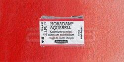 Schmincke - Schmincke Horadam Aquarell 1/1 Tablet 347 Cadmium Red Middle seri 3