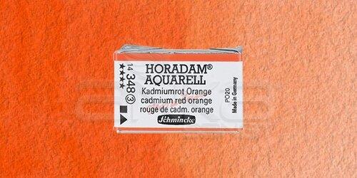 Schmincke Horadam Aquarell 1/1 Tablet 348 Cadmium Red Orange seri 3 - 348 Cadmium Red Orange
