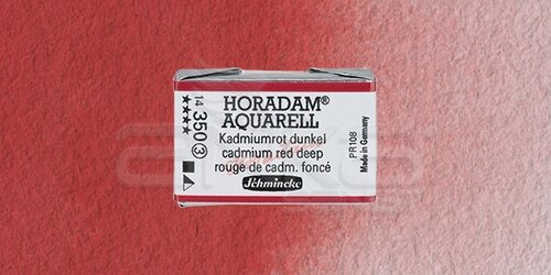 Schmincke Horadam Aquarell 1/1 Tablet 350 Cadmium Red Deep seri 3 - 350 Cadmium Red Deep