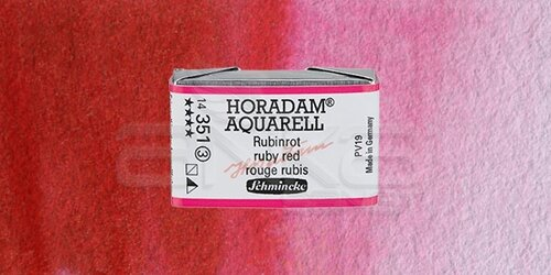 Schmincke Horadam Aquarell 1/1 Tablet 351 Ruby Red seri 3 - 351 Ruby Red