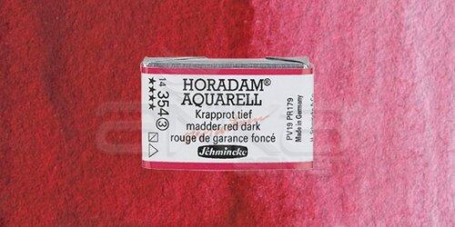 Schmincke Horadam Aquarell 1/1 Tablet 354 Madder Red Dark seri 3 - 354 Madder Red Dark