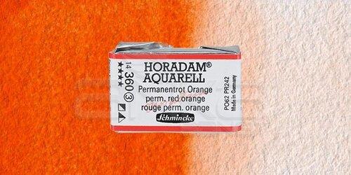 Schmincke Horadam Aquarell 1/1 Tablet 360 Permanent Red Orange seri 3 - 360 Permanent Red Orange
