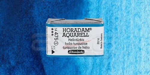 Schmincke Horadam Aquarell 1/1 Tablet 475 Helio Turquoise seri 1 - 475 Helio Turquoise seri 1