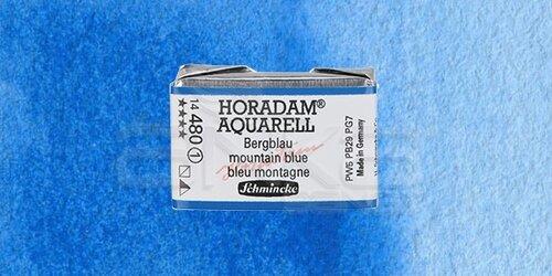 Schmincke Horadam Aquarell 1/1 Tablet 480 Mountain Blue seri 1 - 480 Mountain Blue
