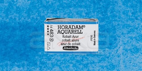 Schmincke Horadam Aquarell 1/1 Tablet 483 Cobalt Azure seri 4 - 483 Cobalt Azure