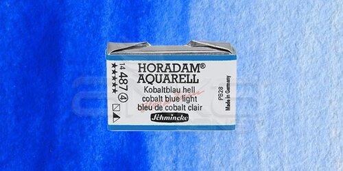 Schmincke Horadam Aquarell 1/1 Tablet 487 Cobalt Blue Light seri 4 - 487 Cobalt Blue Light