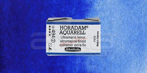 Schmincke Horadam Aquarell 1/1 Tablet 494 Ultramarine Finest seri 2 - 494 Ultramarine Finest
