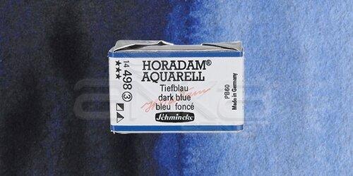 Schmincke Horadam Aquarell 1/1 Tablet 498 Dark Blue Indigo seri 3 - 498 Dark Blue Indigo