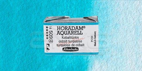 Schmincke Horadam Aquarell 1/1 Tablet 509 Cobalt Turquoise seri 4 - 509 Cobalt Turquoise