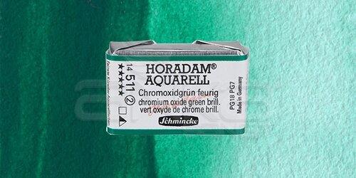 Schmincke Horadam Aquarell 1/1 Tablet 511 Chrom Oxide Green Brill seri 2 - 511 Chrom Oxide Green Brill