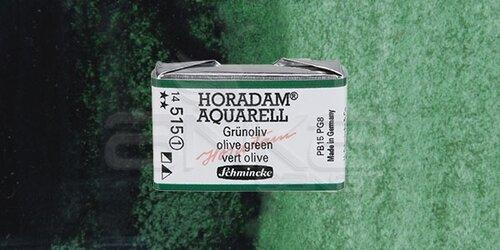 Schmincke Horadam Aquarell 1/1 Tablet 515geen Olive seri 1 - 515 Green Olive