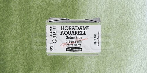 Schmincke Horadam Aquarell 1/1 Tablet 516 Green Earth seri 1 - 516 Green Earth