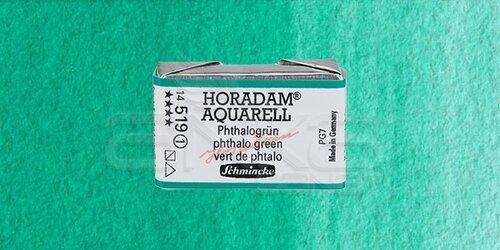 Schmincke Horadam Aquarell 1/1 Tablet 519 Phthalo Green seri 1 - 519 Phthalo Green